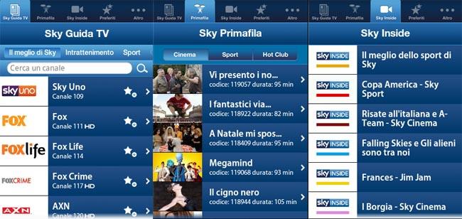 Sky Guida TV ora disponibile per Android