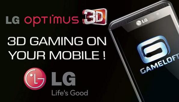 LG e Gameloft assieme per 17 giochi in 3D