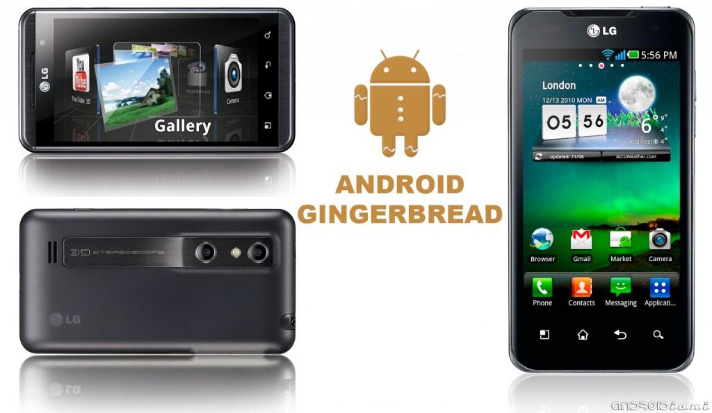 Aggiornamento a Gingerbread 2.3 per LG Optimus 3D a Ottobre