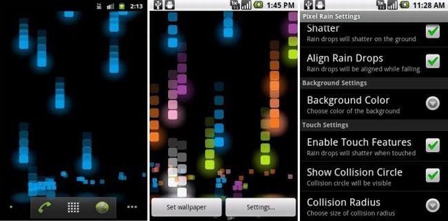 Pixel Rain Live Wallpaper, una pioggia di pixel sul vostro Android