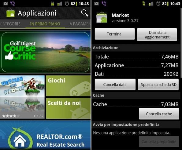 Android Market: aggiornamento alla versione 3.0.27