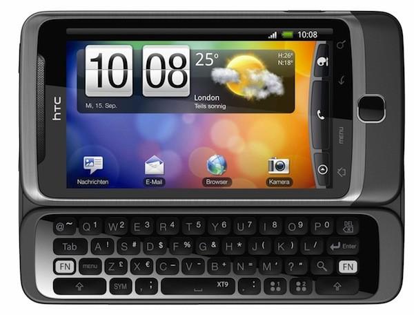 HTC Desire Z: aggiornamento a Gingerbread a fine Luglio