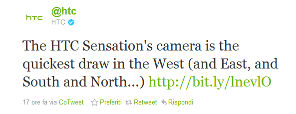 La fotocamera dell'HTC Sensation sorpassa tutti