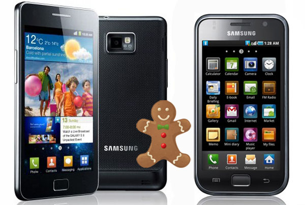 Android Gingerbread 2.3.4 per Samsung Galaxy S e Galaxy S II
