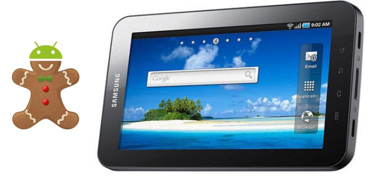 Samsung Galaxy Tab 7, Gingerbread 2.3.3 ora anche per i brand TIM