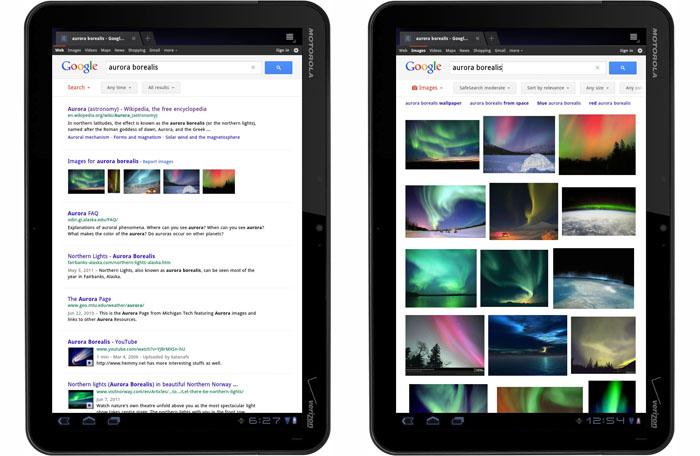 Google, è ufficiale il nuovo layout per tablet