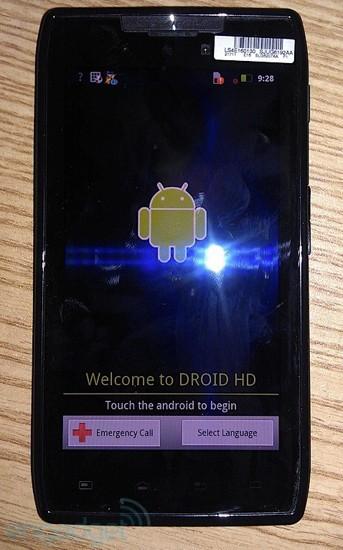 Motorola Droid HD  in arrivo