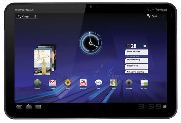 Motorola Xoom: arriva Android 3.1 in Italia