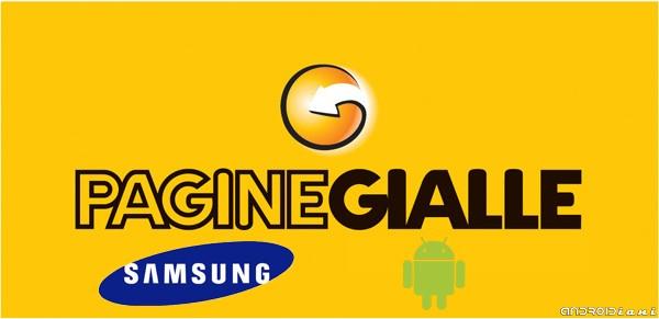 PagineGialle Mobile per Android: la  nuova versione in esclusiva per i cellulari Samsung