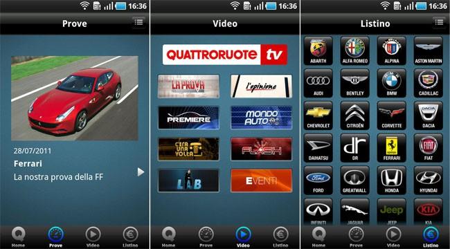 Quattroruote, l'applicazione ufficiale ora anche su Android