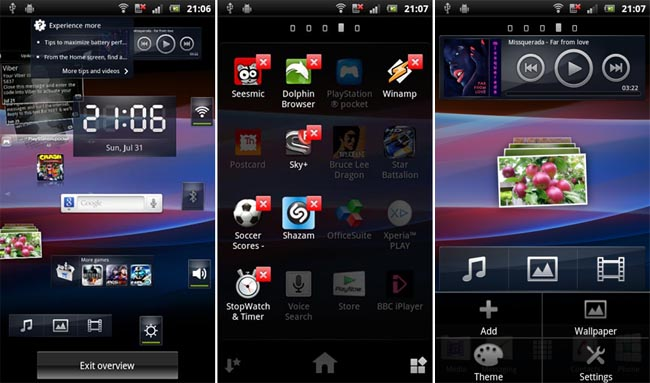Nuovo launcher Sony Ericsson disponibile al download