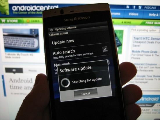 Sony Ericsson Xperia Arc: aggiornamento firmware alla versione 4.0.A.2.368