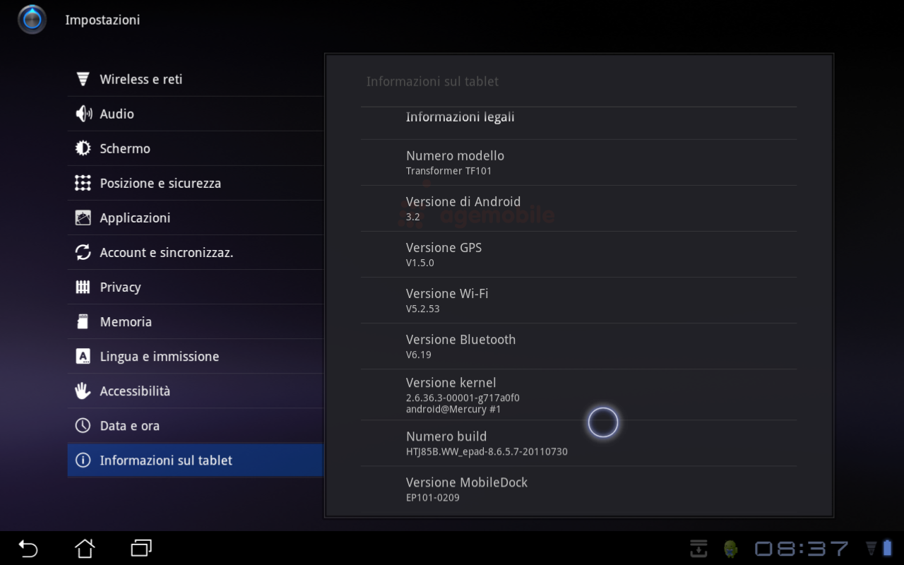Asus Eee Pad Transformer: Android 3.2 disponibile al download