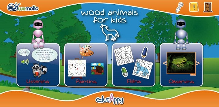 Wood Animals for Kids aiuta i bambini ad apprendere divertendosi