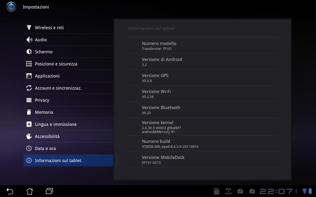 Asus Eee Pad Transformer: nuovo aggiornamento firmware v8.6.5.9