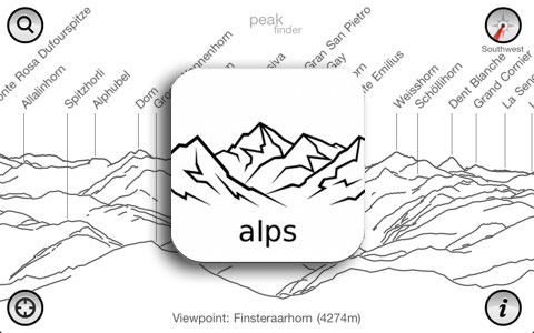 PeakFinder Alps : i nomi delle montagne su Android