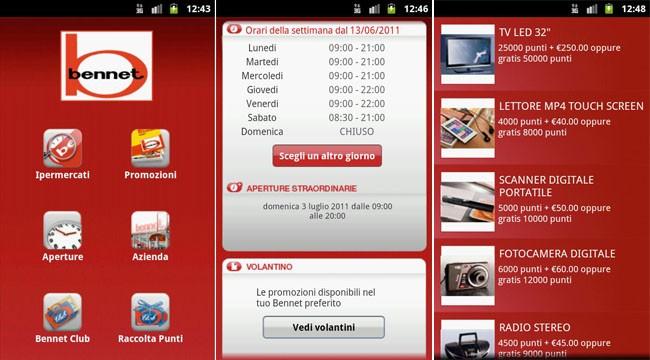 Bennet, la nota catena di ipermercati sbarca su Android