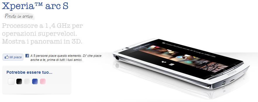 IFA 2011: Sony Ericsson presenterà il nuovo Xperia Arc S