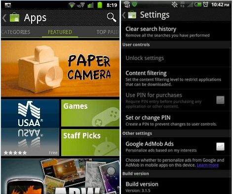 Android Market si aggiorna alla versione 3.1.5