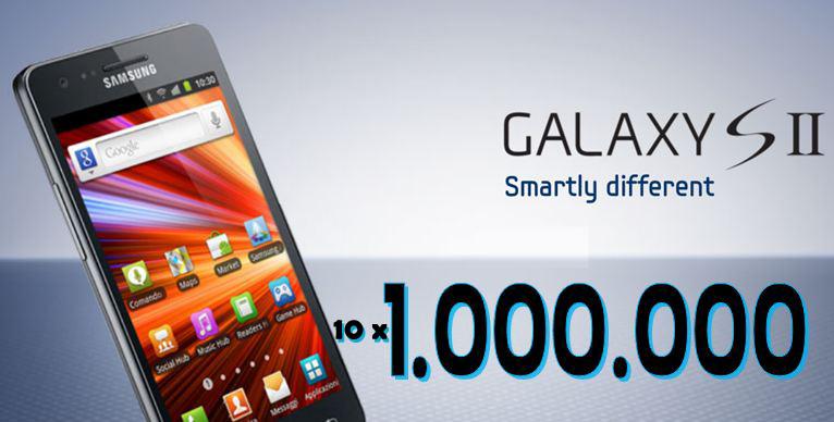 Samsung: venduti 10 milioni di Galaxy S II