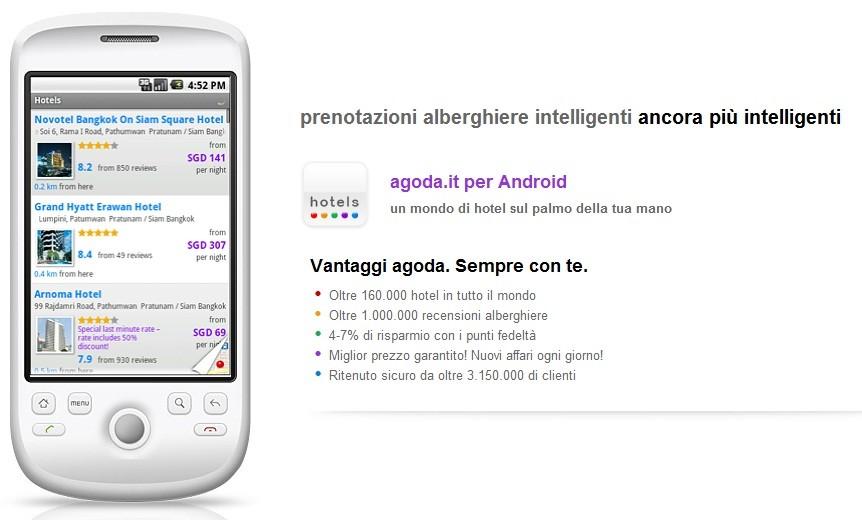 Agoda lancia l'app Android per prenotare hotel in tutto il mondo
