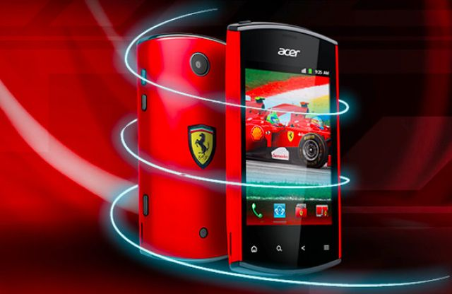 Acer Liquidmini Ferrari Edition in mostra all'IFA 2011
