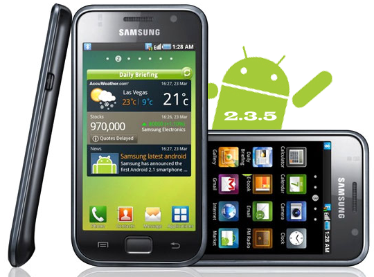 Samsung Galaxy S: arriva l'aggiornamento ad Android 2.3.5 in UK