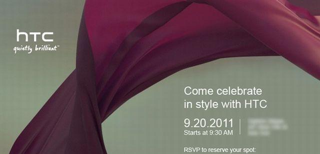 HTC fissa un evento per il 20 Settembre, nuovi dispositivi in arrivo