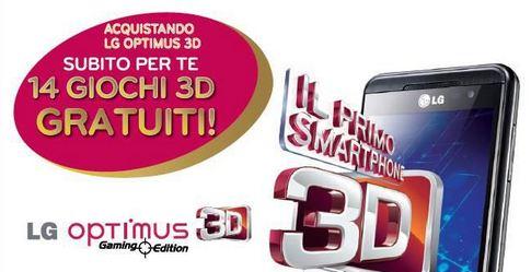 LG: 14 videogiochi in regalo con l'acquisto dell'Optimus 3D