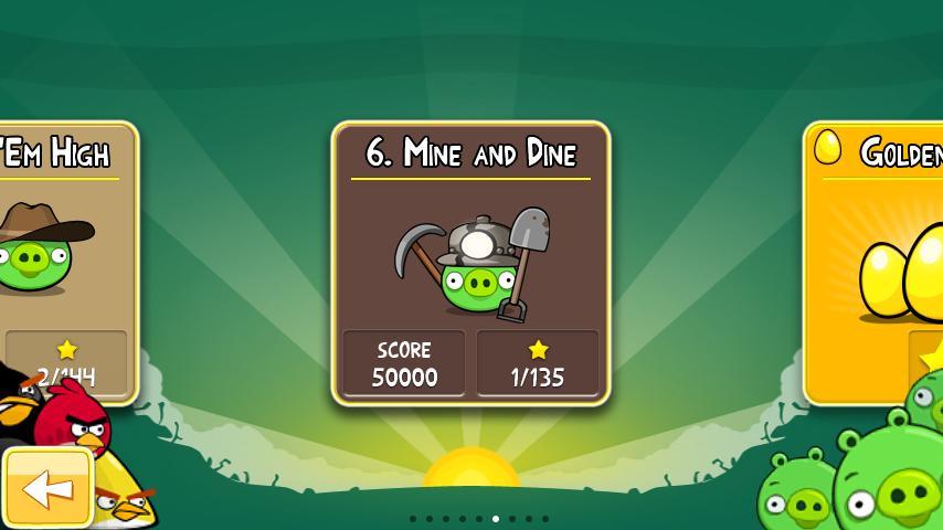 Angry Birds: aggiornato Mine and Dine con 15 nuovi livelli