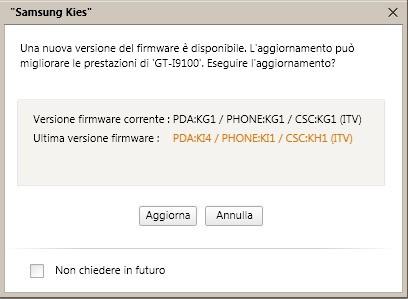 Samsung Galaxy S2 : arriva l'aggiornamento KI4 per i nobrand ITA