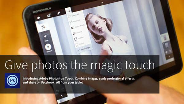 Adobe Photoshop Touch : inizia l'era del disegno su tablet