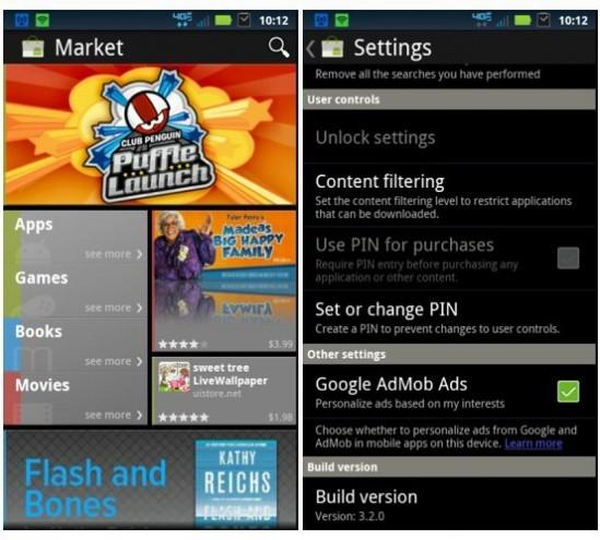 Android Market 3.2.0 e nuove suonerie da Ice Cream Sandiwch
