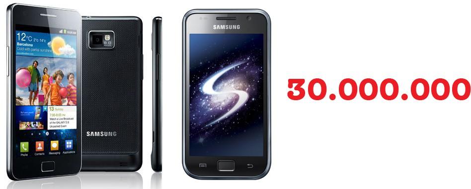 GALAXY S e GALAXY S II: Samsung festeggia il traguardo di 30 milioni di unità vendute in tutto il mondo