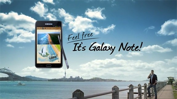 Samsung Galaxy Note: ecco il primo spot TV