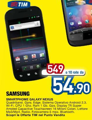 Euronics : compare il Galaxy Nexus a 549€!!