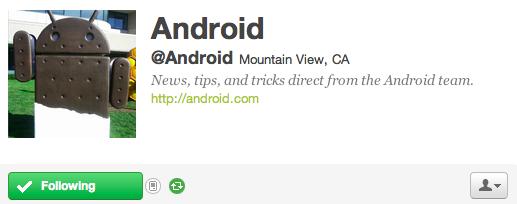 Android è su Twitter