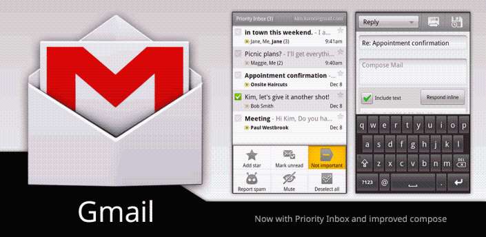 Gmail: aggiornamento alla nuova versione 2.3.5.2