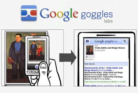 Google Goggles si aggiorna con l'avvio automatico in modalità acquisizione