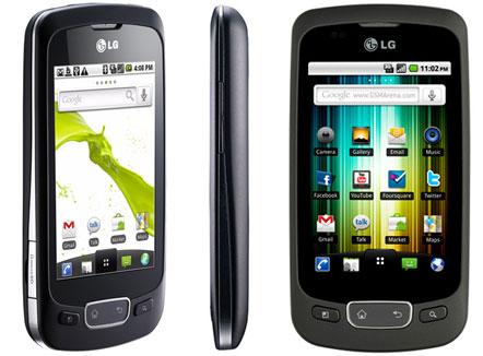 LG Optimus One: disponibile nuovo aggiornamento V20G