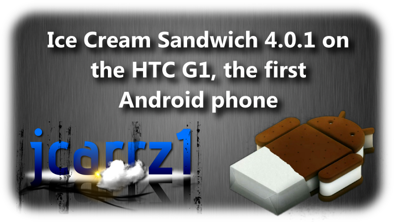 Android 4.0 Ice Cream Sandwich su HTC Dream