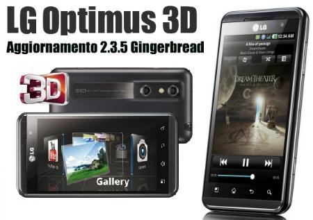 LG Optimus 3D: update V21A porta Android 2.3.5 Gingerbread