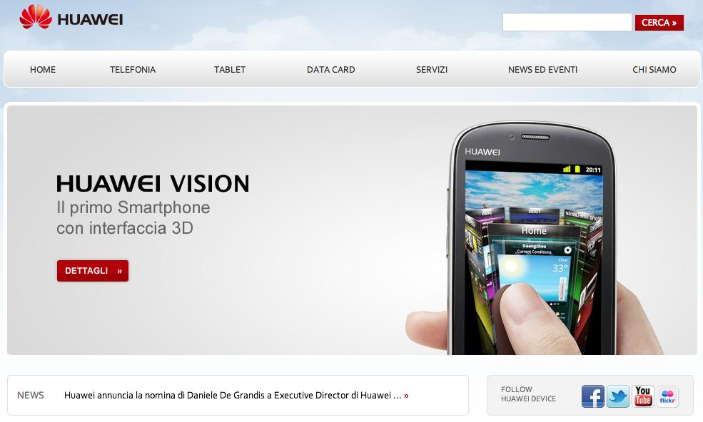 Huawei, ora anche .it
