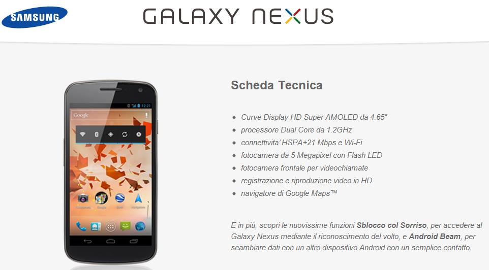 Samsung Galaxy Nexus: Google rilascia il firmware originale