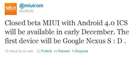 MIUI Team : al lavoro per creare la ROM basata su Android 4.0