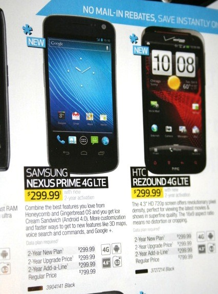 Il Nexus Prime è il Galaxy Nexus di Verizon