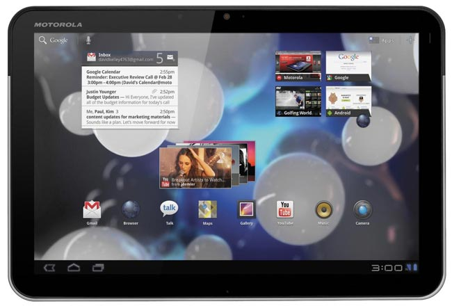 Motorola Xoom versione 3G: roll-out Android 3.2 Honeycomb in Europa