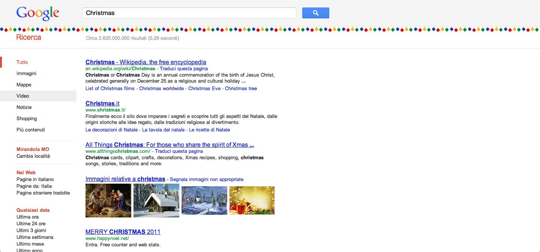 Easter Egg natalizio per Google!