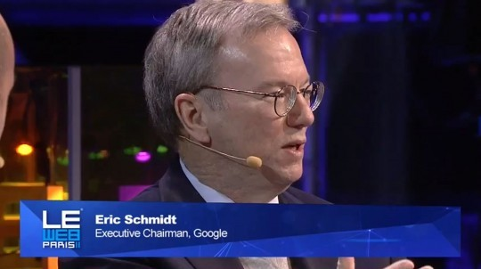 Eric Schmidt a LeWeb: lunga intervista sul mondo Android