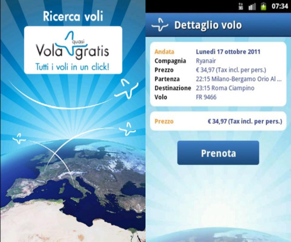 Volagratis - voli e viaggi: prenotare i tuoi voli dal tuo smartphone